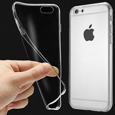 Soft Thin Silicone TPU Clear Gel Transparent Back Case Cover For iPhone 5S 5SE