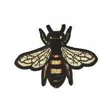 Bee / Fly M (Iron on) Embroidery Applique Patch Sew Iron Badge