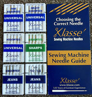 KLASSE SEWING MACHINE NEEDLES Universal, Jeans & Sharps BEST GERMAN NEEDLES