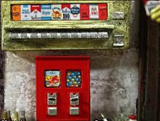 Kaugummi Waren Automat Bubble Gum Diorama Puppenstube Vintage Deko Zubehör 1/18