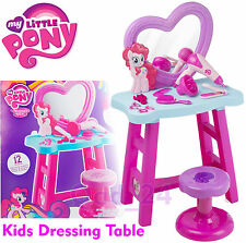 My Little Pony - Dressing Table For Girls Mirror Stool Pretend Role PlaySet Kids