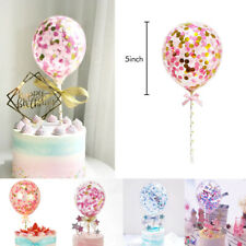 8 Colours Confetti Foil Balloons Wedding Birthday Party Cake Topper Set Decor