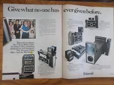 1971 Cámara Polaroid anuncio muestra 6 Modelos Modelo 450 440 430 420 & Big Shot