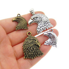 16-Pack Vintage Metal Eagle Head Craft Mixed Pendant Charm DIY Jewelry Findings