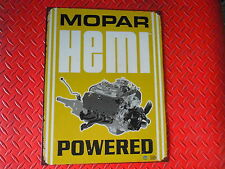 MOPAR HEMI POWERED VINTAGE STEEL SIGN  MADE AND SHIPPED FREE IN U.S. DODGE !