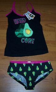Size M  Juniors Sleep Set 2-Pc  Hard Core Avocado