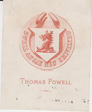 § 2 EX-LIBRIS THOMAS POWELL - Rouen - XIXème siècle §