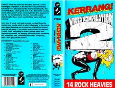 "VHS - "" KERRANG 2 - Video Compilation - 14 Rock Heavies "" (1987)"