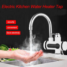 Electric Hot Water Heater Faucet Tankless Instant Bathroom Kitchen Heating Tap