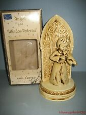 Vintage Sears Angel with Musical Widow Box Pedestal Plays Silent Night Japan