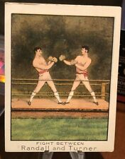 Old Mecca Boxing Cigarette Tobacco Card   Randall and Turner