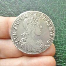 Louis XIV - Demi Ecu à la mèche longue - 1650 N  Montpellier
