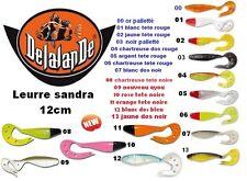 Lot de 2 Leurres souple Sandra 12cm DELALANDE.<< news color 2015 >>