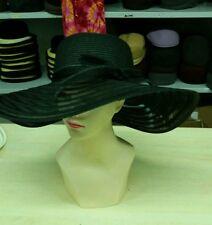 sombrero negro elegante de ceremonia talla única paja de hat cóctel mujer mar xx