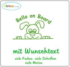 Hundeaufkleber Fensteraufkleber Autoaufkleber  Wunschtext Dog on Board 1/24