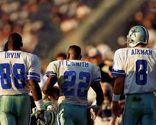 Dallas Cowboys TROY AIKMAN, MICHAEL IRVIN & EMMITT SMITH Glossy 8x10 Photo Print