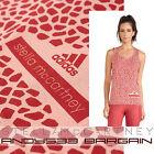 Stella McCartney Adidas Women Tank Top Cotton Giraffe Animal Print Yoga Tee XS M