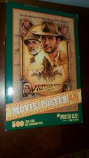 Indiana Jones And The Last Crusade 1989 Movie Poster Puzzle 500 Pieces Rare Mb