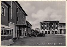 NG0390 - ISERNIA - PIAZZALE DELLA STAZIONE CON AUTO E BUS VIAGGIATA 1957