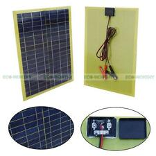 20Watt Epoxy Solar Panel Panneau Solaire w/ Cable & Battery Clip for Car Battery