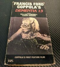 DEMENTIA 13 VHS VINTAGE HORROR MOVIE SCARY THRILLER FRANCIS FORD