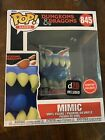 FUNKO POP GAMES Dungeons And Dragons  845 MIMIC  D20 INCLUDED GAMESTOP EXCLUSIVE
