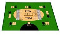Pokerdecke Poker Decke Tischdecke Spieldecke Tischauflage  90 x 160cm grün NEU