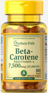 Beta-Carotene 25,000 IU 100 SOFTGELS FAST DISPATCH 220