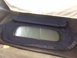 1997-02 Porsche Boxster 986 Blue Mohair Soft Top Hood/ Roof Glass Window Upgrade