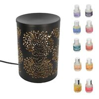 Marrigold Flower Pattern Table Decorative Diffuser Lamp With Set of 10 Aroma Oil