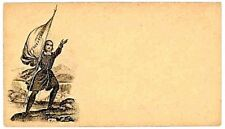 """Mint US CW Era Union Patriotic Envelope ~ Weiss #M-L-32 [""""Excelsior"""" Flag]...A6"""