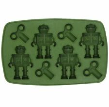 Silicone Ice Tray Cool Robot Shape Ice Cube Freeze Maker Ice Mould Drink (GREEN)