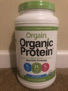 Orgain Organic Plant Based Protein Powder - Vanilla Bean - 2.03lbs 920g - 09/21+