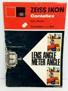 RARE!  Zeiss Ikon CONTAFLEX Super BC Camera Original sales brochure book