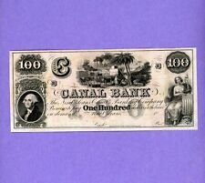 1800's $100 Canal & Banking Co. New Orleans CRISP UNC Note