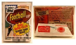 Factory Sealed 1987 Topps Football Cello Pack w/ Herschel Walker Rookie Showing