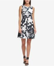 Dkny Printed Trapeze Dress Size 12 #B527 MSRP $119.00