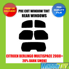 CITROEN BERLINGO MULTISPACE 2008+ 20% DARK REAR PRE CUT WINDOW TINT