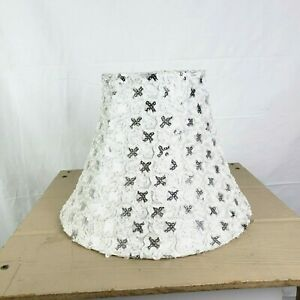 Small White Silver Lampshade