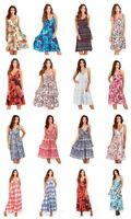 Womens Dress Summer Beach Sundress Cotton Everyday Holiday Casual Ladies Dresses