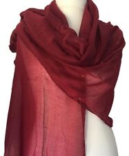 Burgundy Pashmina Ladies Sparkly Dark Red Shawl Wrap Glitzy Oversized Scarf New