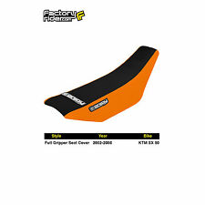 2002-2008 KTM SX 50 FULL GRIPPER SEAT COVER Orange/Black by Enjoy MFG