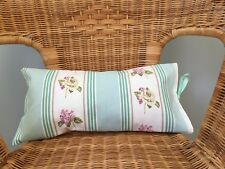 Shabby Chic Floral Striped Decorative Bolster Cushion