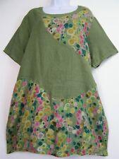 Lagen Look 100% Linen s/ sleeve Top 6 Colours PlusSize Fits 16-20