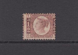 "GB QV 1/2d Rose SG49 Plate 13 Bantam ""CT"" 1870 Mint No Gum / Unused Stamp"