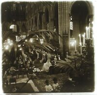 Francia Mariage Cattedrale c1930 Stereo L32n12 Placca Da Lente Vintage