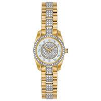 Bulova Women's 98L241 Quartz Crystal Accents Gold-Tone Bracelet 23.5mm Watch