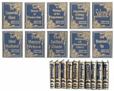 Dollhouse Miniature Set of 10 Oscar Wilde Books Blue and Gold