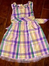 GIRLS Chaps DRESS SIZE 6 PRETTY Plaid EASTER MOTHER'S DAY Fancy Spring