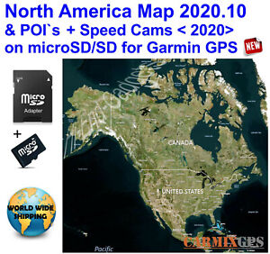 2020 North America City Maps nt+Speed Cameras - SD Card for Garmin GPS Navigator